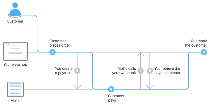 Payment flow Mollie API